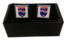Picture of Club crest cufflinks on white background