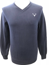 Picture of V-Neck Staggies Jumper (Navy)