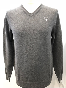 Picture of V-Neck Staggies Jumper (Grey)