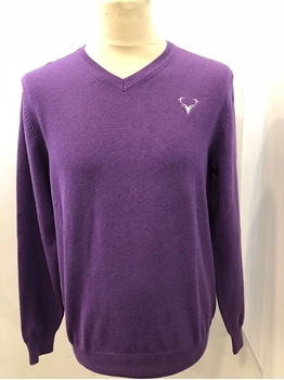 Picture of V-Neck Staggies Jumper (Purple)