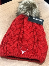 Picture of Red Cable Knit Bobble Hat
