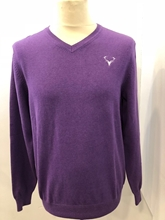 Picture of Small Adult V-Neck Staggies Sweater (Purple)