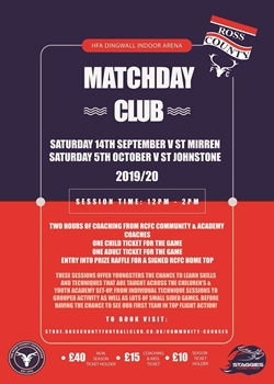 Picture of Matchday Club - 5th October v St Johnstone