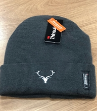 Picture of Grey Beanie Hat with Stag Head Logo