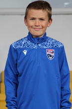 Picture of Youth Small - Tagus Blue 1/4 Zip Training Top