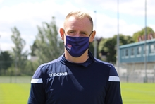 Picture of Navy Crest Design Face Mask