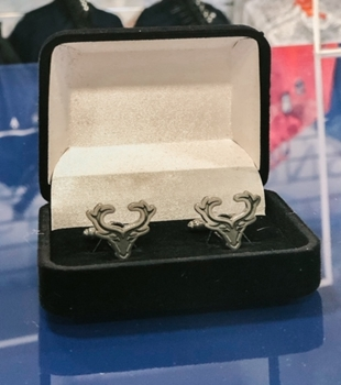 Picture of Stag Logo Cufflinks - all proceeds going to Mikeysline